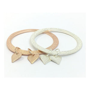 Luv - Heart Droplet Bangle