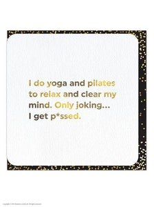 Yoga & Pilates Foil Card