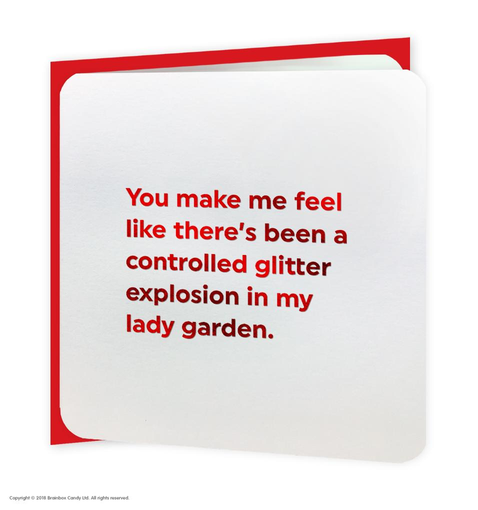 Bright Red Funny ''Lady Garden' Card