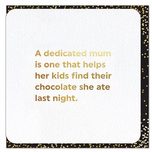 Dedicated Mom Foil Card