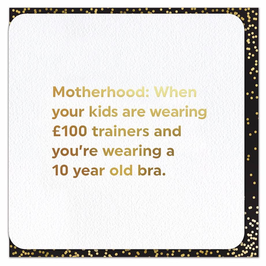 Motherhood 10 Year Old Bra - Foil Card