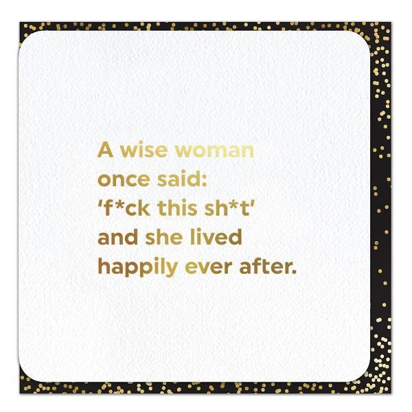 A Wise Woman Gold Foil Card