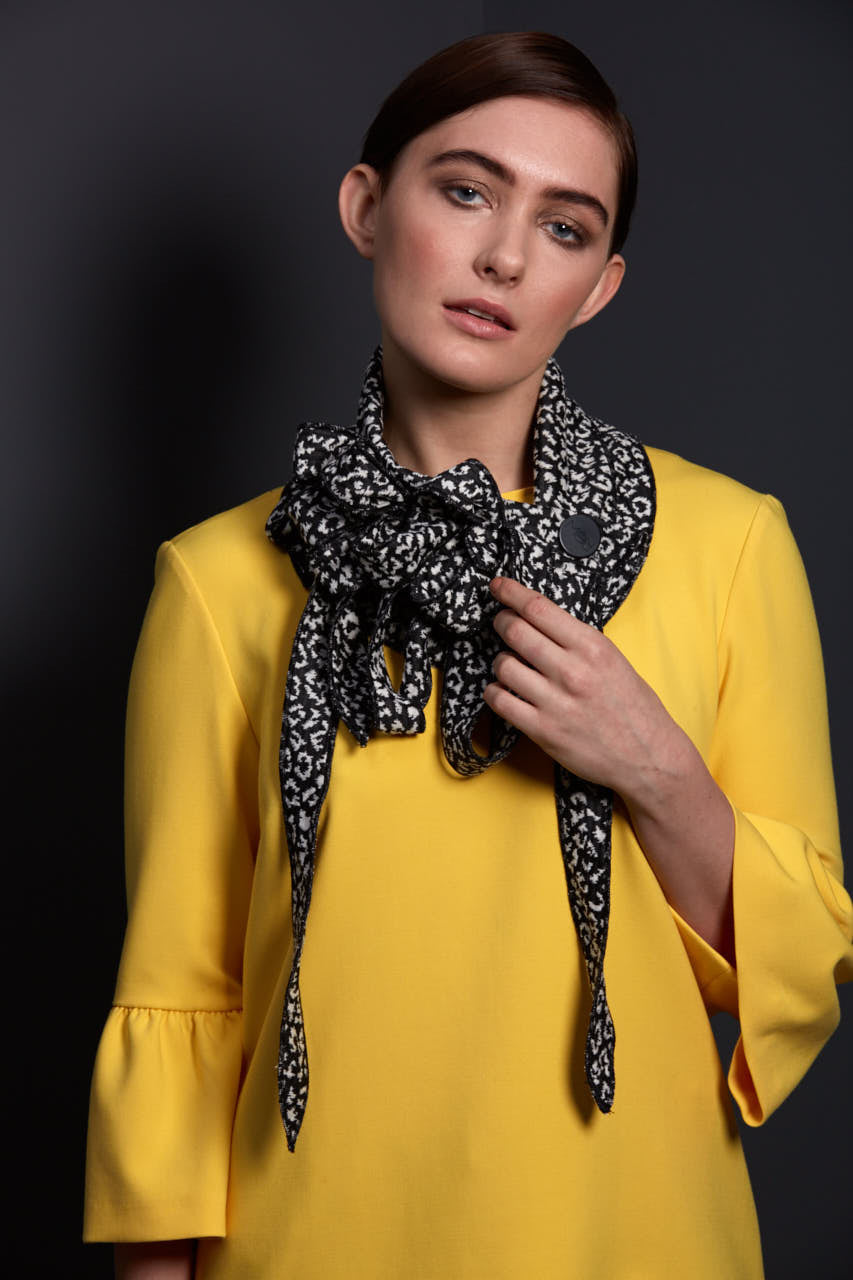 black and cream scarf unusual gifts for women