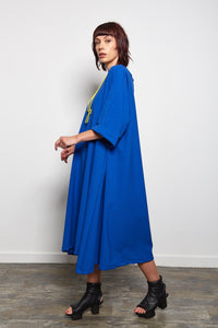 REW CLOTHING BRIGHT BLUE DRESS