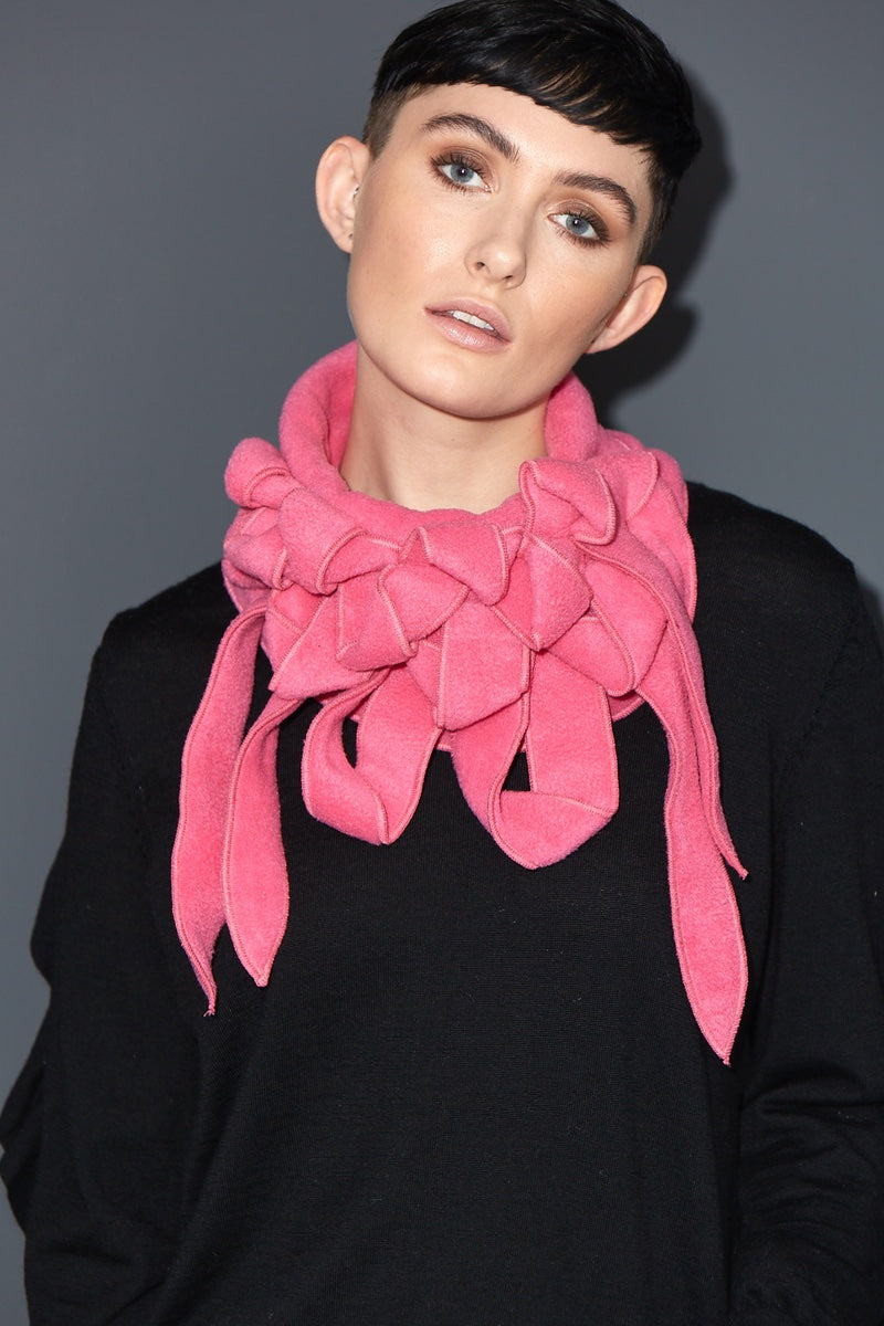 BRIGHT PINK UNUSUAL SCARF