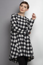 giant checked dress on trend