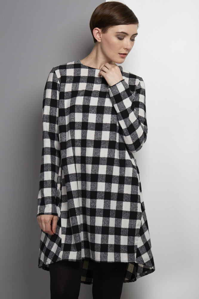black and white checked rew clothing dress