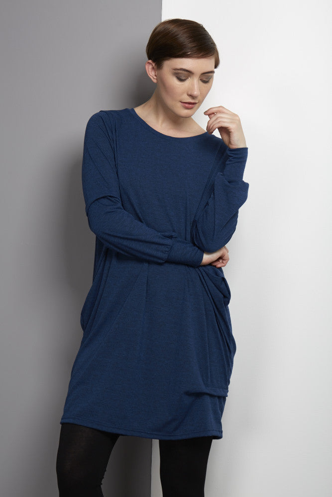 Blue jersey dress Rew clothing