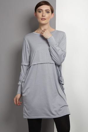 Lagen look pale grey dress by rew clothing