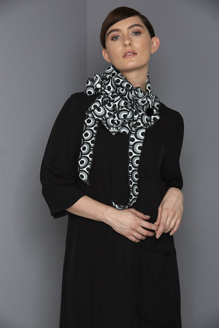 Deco - Black and Grey Collar Scarf