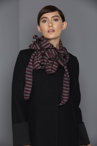 Pammy - Pink Chevron Collar Scarf