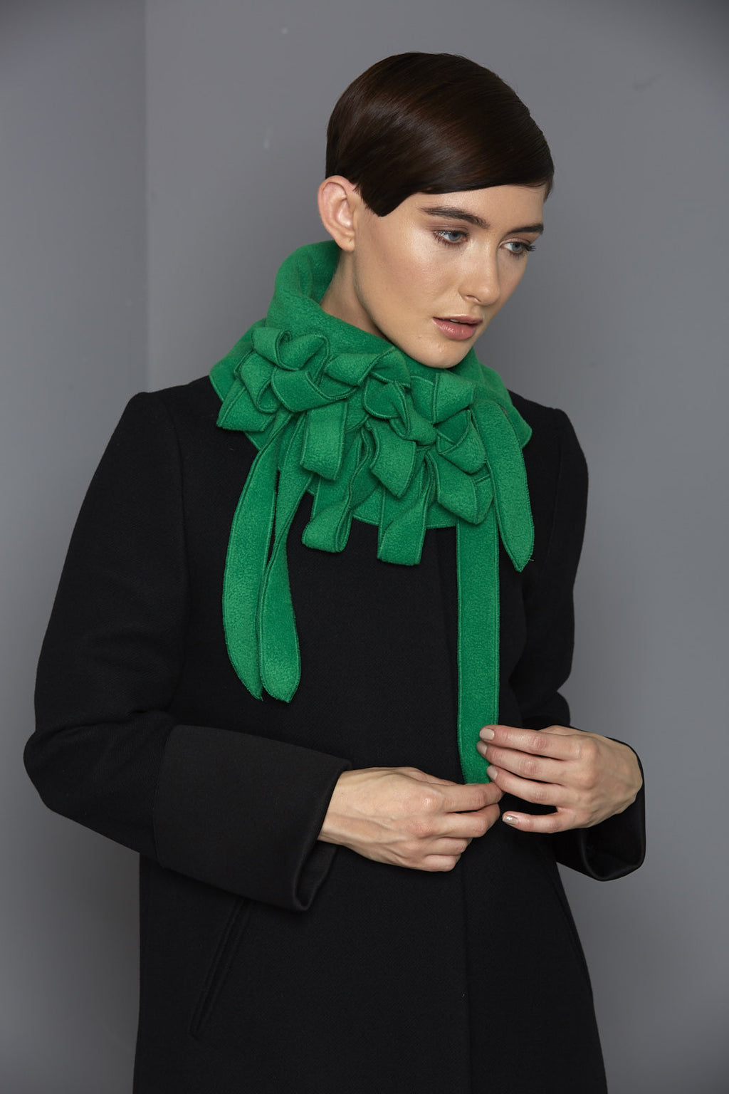 unusual green scarf