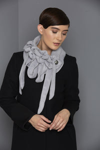 rew clothing grey winter scarf