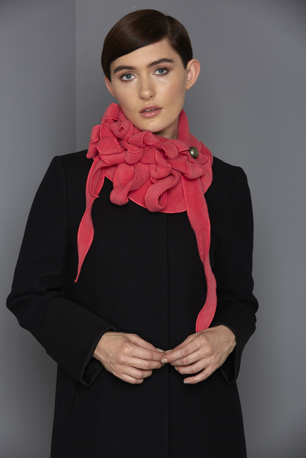 pink rew clothing scarf