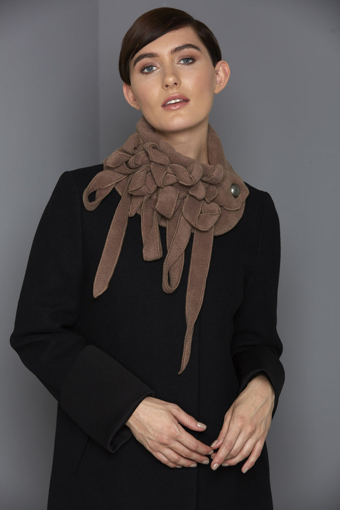 stylish brown winter scarf rew clothing