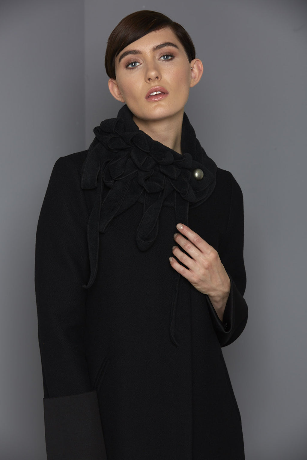 black fleece scarf for winter