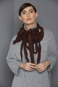 CHESTNUT BROWN SCARVES FOR WOMEN
