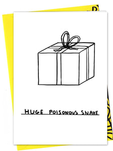 'huge poisonous snake' box card