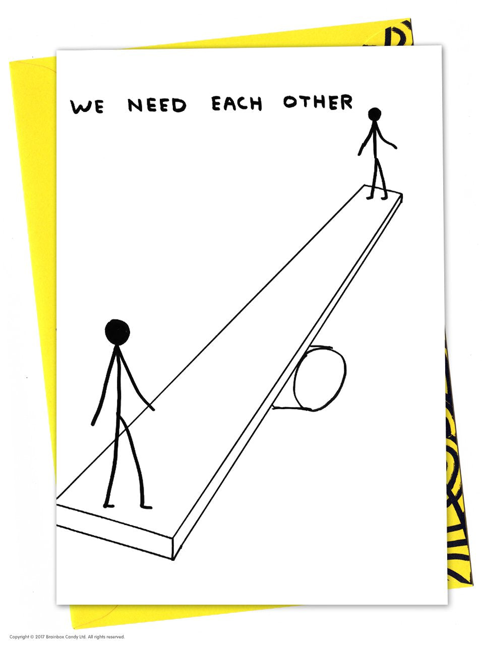 We Need Each Other David Shrigley Card