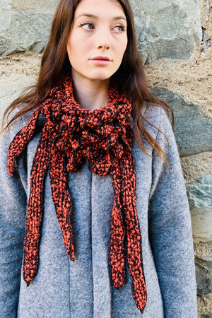 Boo Boo - Orange Boucle Scarf