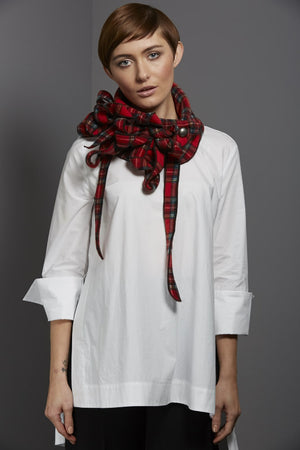 stylish trendy red scarf