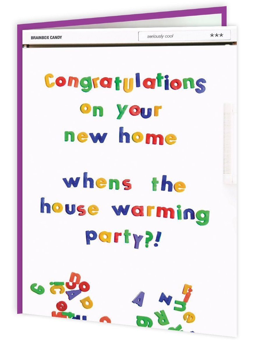 New Home Equals Housewarming Card