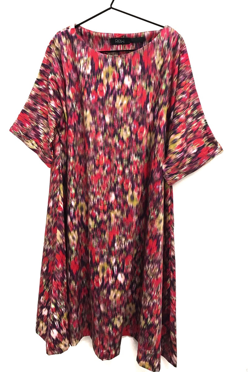 unusual loose fit flared dress rew clothing