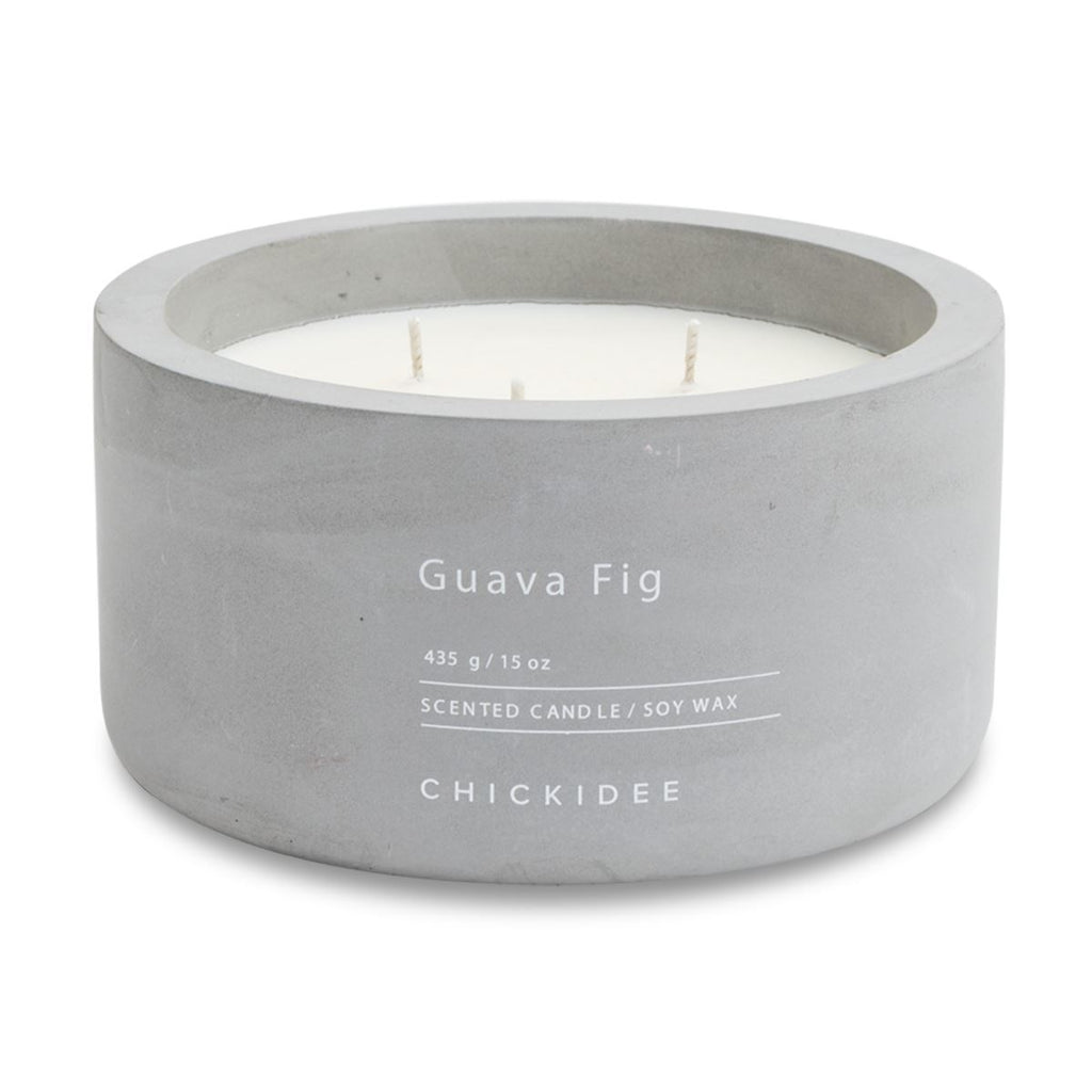 Guava Fig Concrete Candle