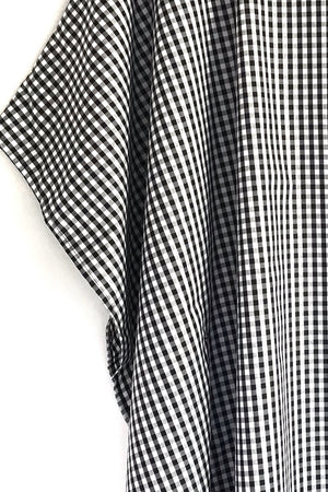 Diana - Black + White Gingham Tunic