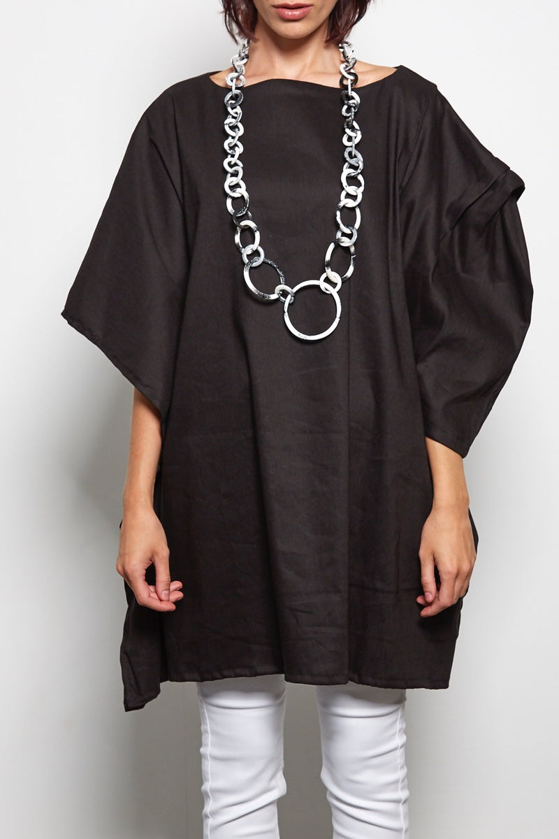 rew clothing asymmetrical linen tunic