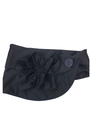 black flower scarf rew clothing