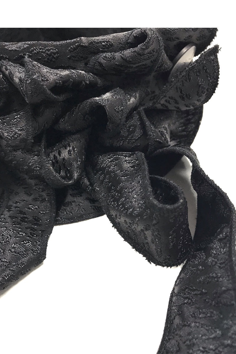 rew clothing black evening scarf