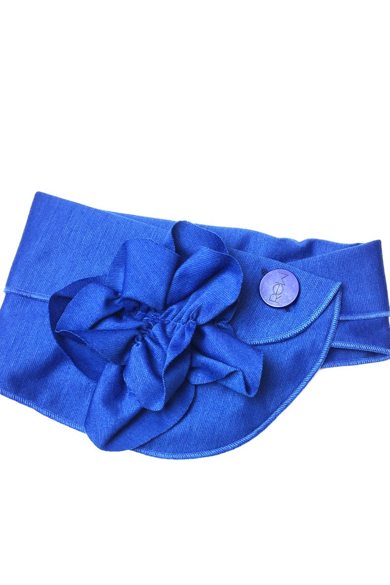 bright blue stylish scarf