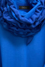 Bright Blue Runch Neck Jumper