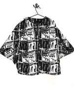 unusual black and white jacket rew clothing