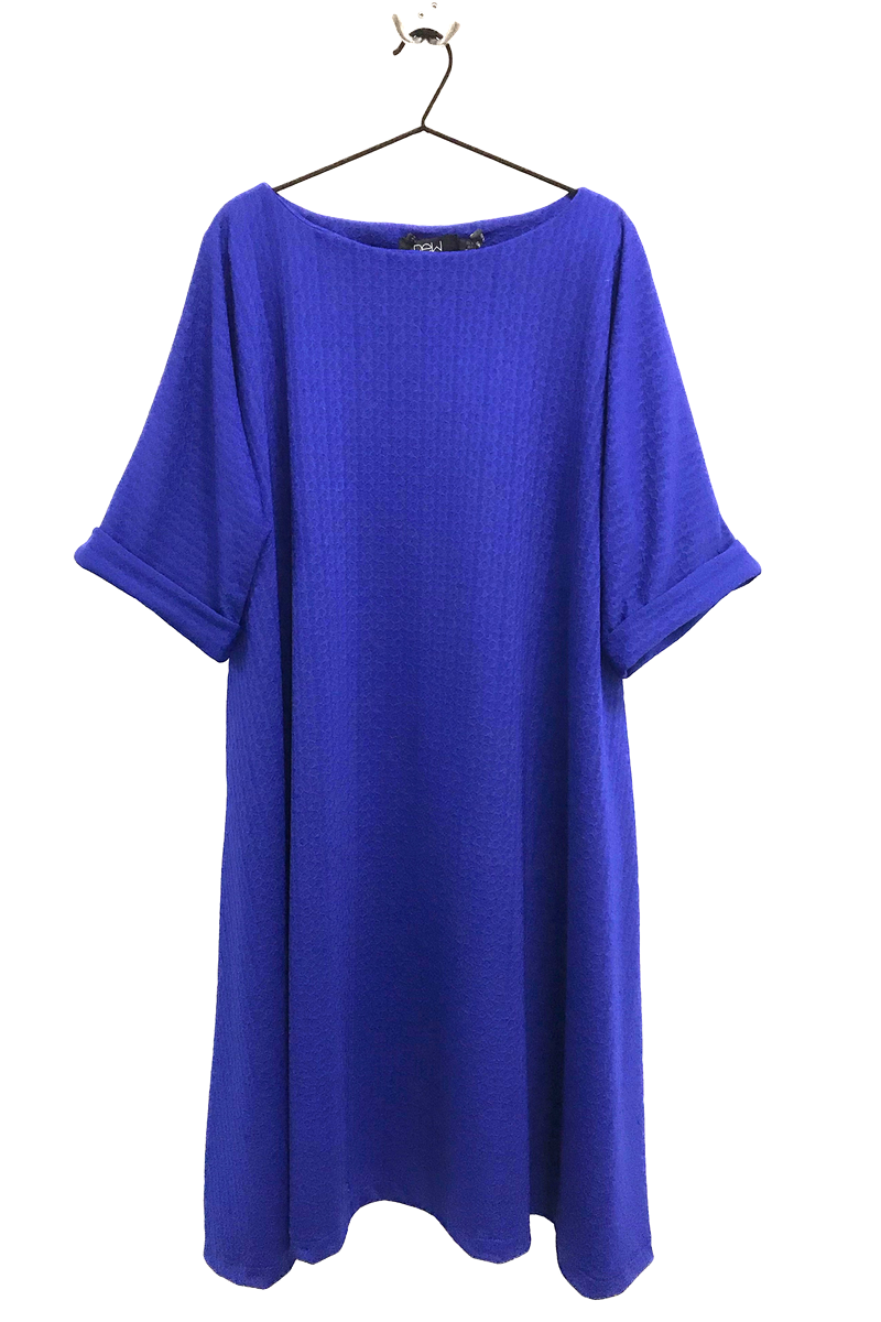 bright blue rew clothing dress