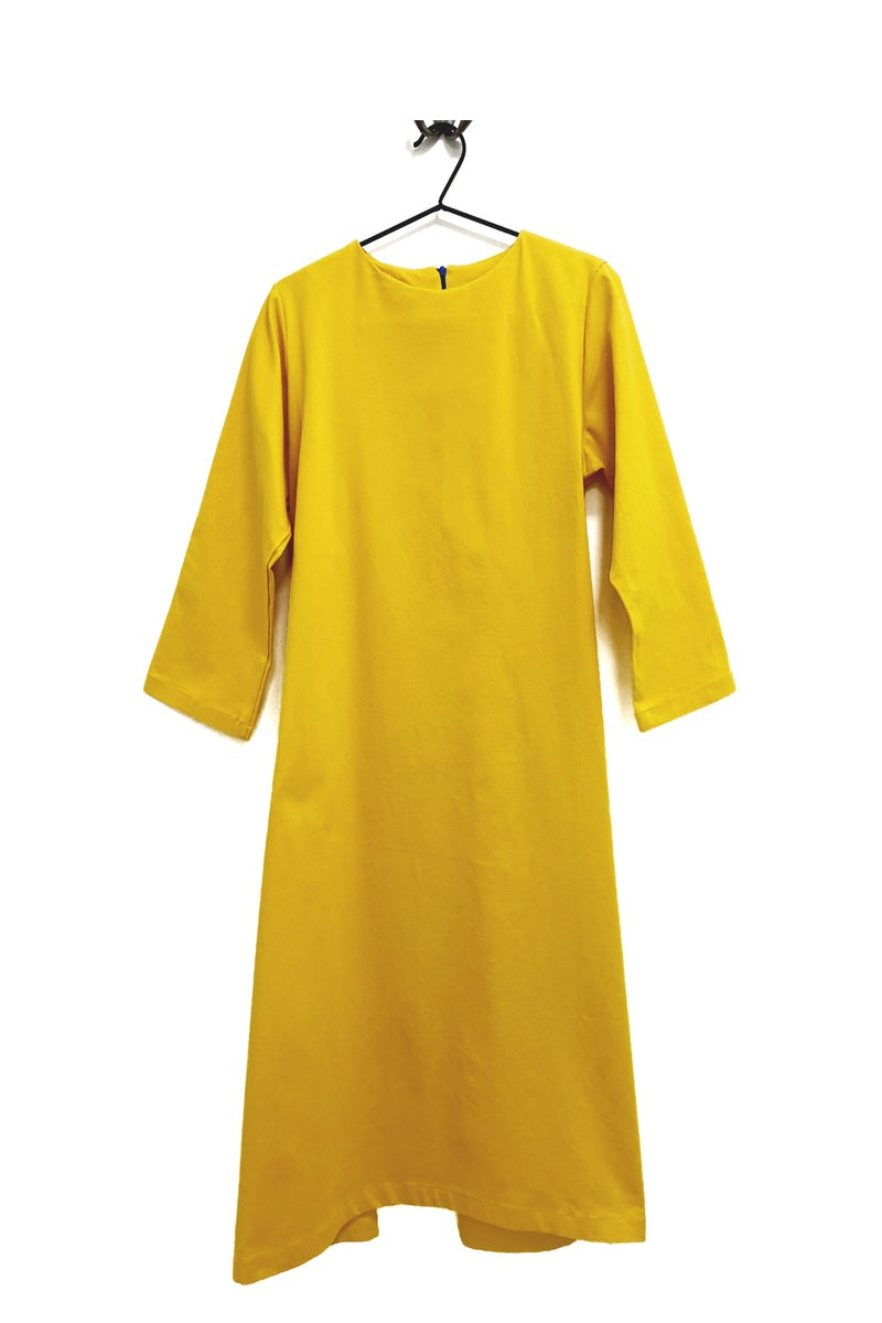 Totes - Yellow Denim Fit and Flare Dress