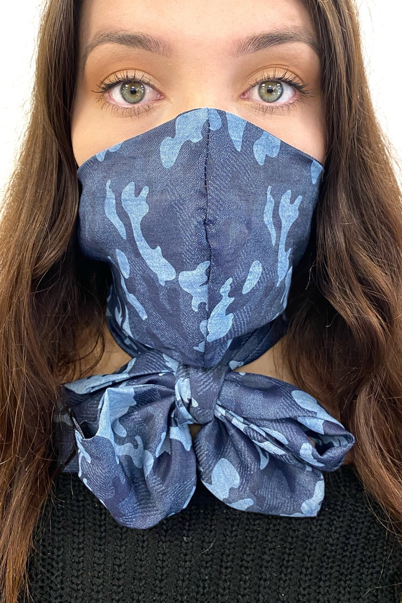 Mascarf - Denim Cameo Mask - Scarf
