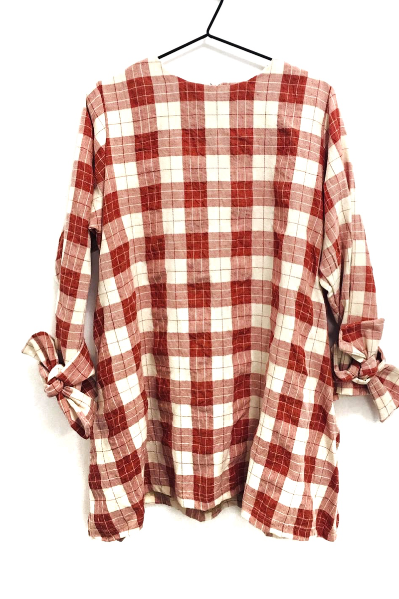 checked totes tunic top rew clothing