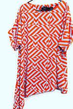 unusual chevron drape loose fit summer top re clothing