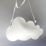 unusual quirky cloud bag in soft white leather