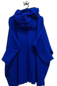 Runch Neck Jumper Ribbed - Royal Blue