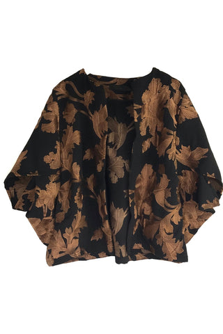 Kimono - Embroidered Copper & Black Jacket