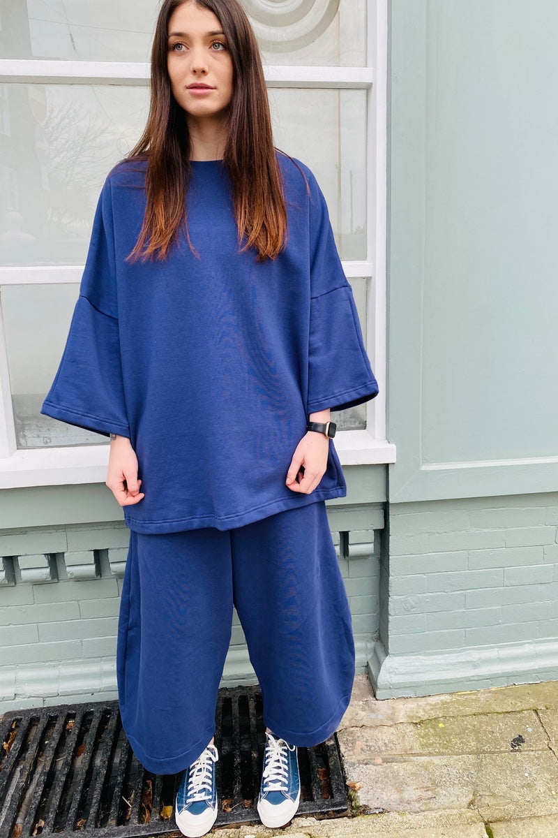 Organic Cotton - Denim Blue Lounge Wear Top