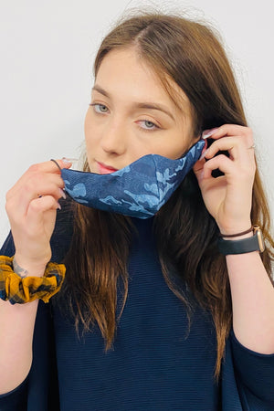 BRITISH MADE 3 PLY DENIM FACE MASKS UNISEX