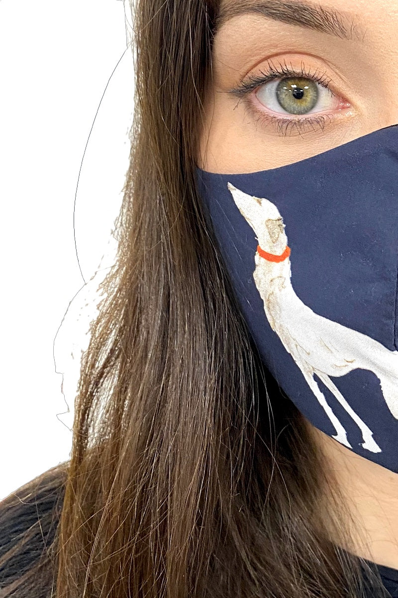 dog print face mask 3 ply