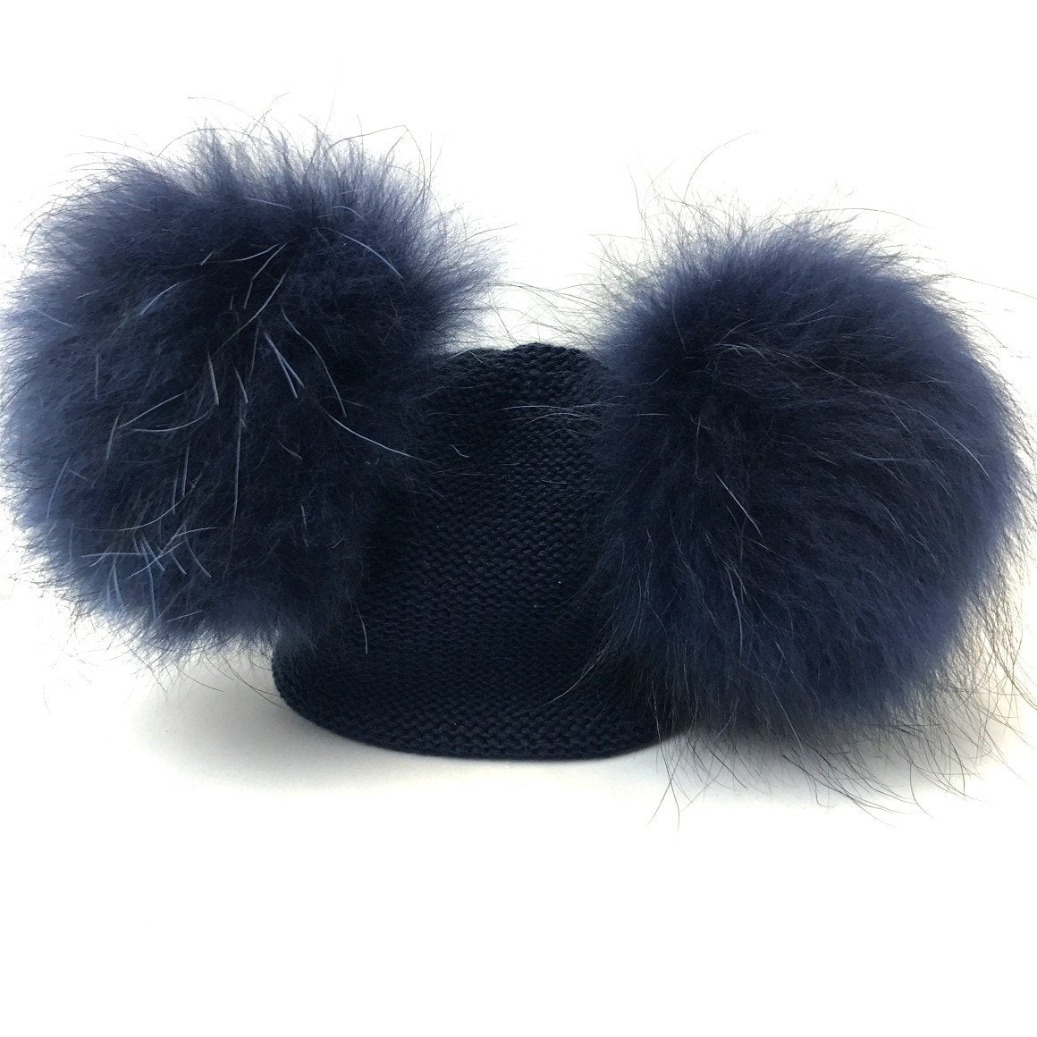 double pompom baby hat