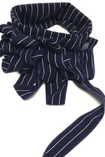 stripped scarf navy blue and white