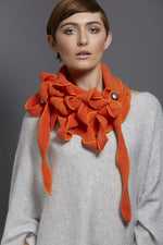 unusual orange scarf