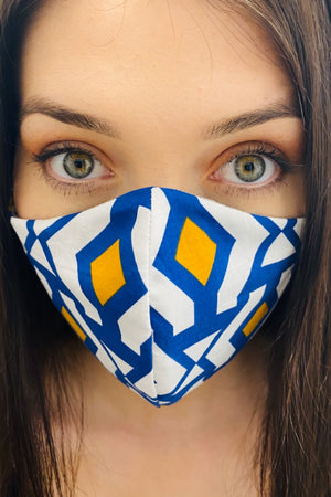 Geometric fabric face barrier mask